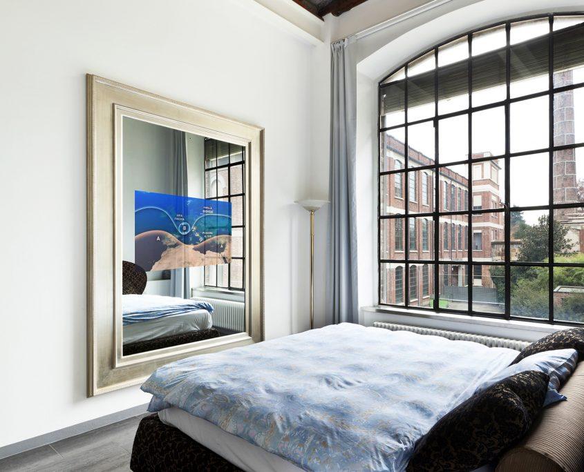 Spectra-Mirror TV-bedroom-tv-on