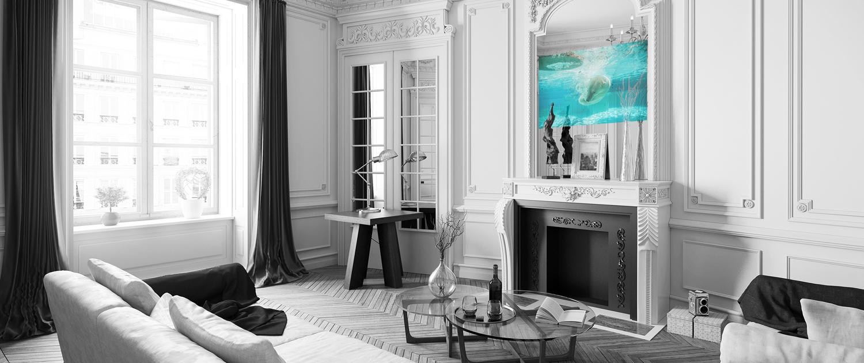 Spectra tv a specchio installazione sala
