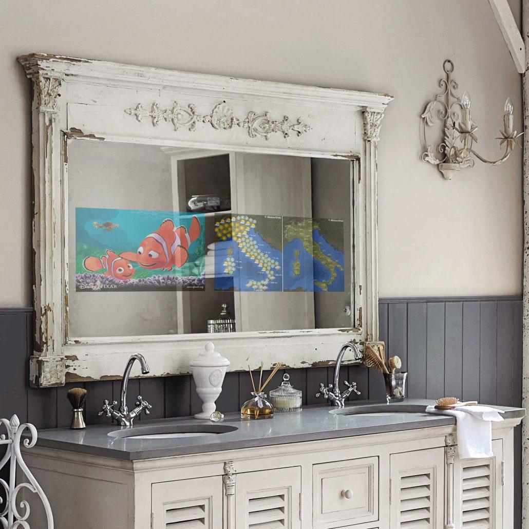 Tv a specchio Spectra installazione bagno